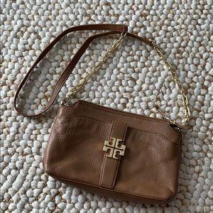TORY BURCH Tan Leather Crossbody Bag